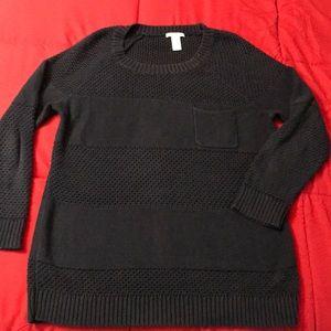 White + Warren Striped Texture Sweater